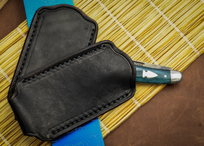 *KSF Leather: Main Street Universal PocketSlip Pocket Knife Pouch - Black