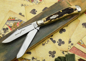 Great Eastern Cutlery: #48 Northfield Un-X-LD - Trapper - Natural Stag - Serialized - #19