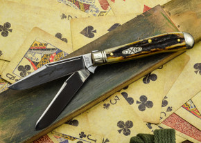 Great Eastern Cutlery: #48 Northfield Un-X-LD - Trapper - Natural Stag - Serialized - #20