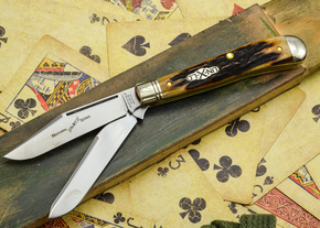 Great Eastern Cutlery: #48 Northfield Un-X-LD - Trapper - Natural Stag - Serialized - #27
