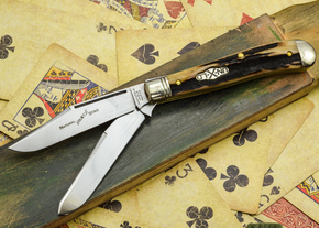 Great Eastern Cutlery: #48 Northfield Un-X-LD - Trapper - Natural Stag - Serialized - #28