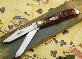 Great Eastern Cutlery: #48 Northfield Un-X-LD - Trapper - Autumn Gold Jigged Bone - Unserialized