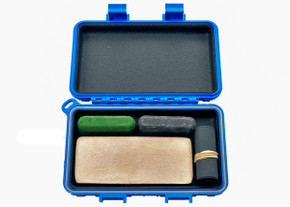 Complete Sharpening Kit for Field or Home w/ S3 Dry Box - Blue