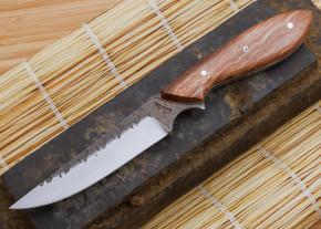 Carter Cutlery: Standard Neck Knife - Laminated White Steel - Stabilized Burl - 2
