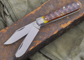 Great Eastern Cutlery: Tidioute - #15 Farmboy's Knife - Antique Yellow Jig Bone