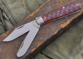 Great Eastern Cutlery: Tidioute - #15 Farmboy's Knife - Rust Red Jig Bone