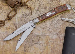 Great Eastern Cutlery: #48 Tidioute - Beaver Tail Trapper - Jigged Brazilian Cherry Wood - Serialized