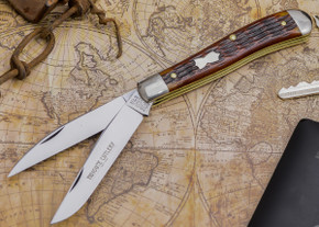 Great Eastern Cutlery: #48 Tidioute - Trapper - Autumn God Jig Bone - Serialized