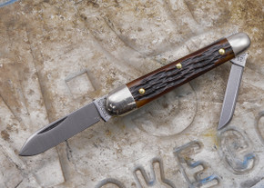 Great Eastern Cutlery: #09 - Tidioute - Esquire - Chestnut Jig Bone - Unserialized