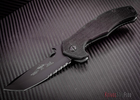 Emerson: Mini-Roadhouse - Black Finish - Serrated - M-RDHS BTS