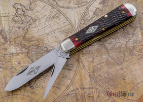 Great Eastern Cutlery: Northfield Un-X-LD - #15 Diamond Harness Jack - Blood Red Jig Bone