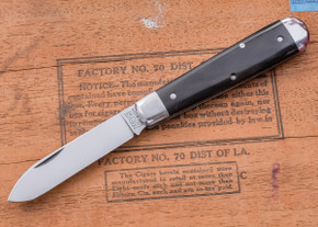 Great Eastern Cutlery: Tidioute - #15 Huckleberry Boy's Knife - Ebony - One Blade