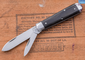 Great Eastern Cutlery: Tidioute - #15 Huckleberry Boy's Knife - Ebony - Two Blade
