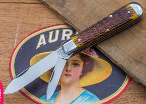 Great Eastern Cutlery: Tidioute - #15 Huckleberry Boy's Knife - Antique Yellow Jig Bone - Two Blade