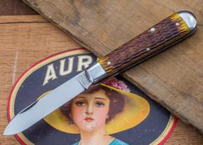 Great Eastern Cutlery: Tidioute - #15 Huckleberry Boy's Knife - Antique Yellow Jig Bone