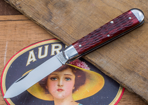 Great Eastern Cutlery: Tidioute - #15 Huckleberry Boy's Knife - Rust Red Jig Bone