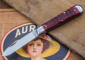 Great Eastern Cutlery: Tidioute - #15 Huckleberry Boy's Knife - Rust Red Jig Bone