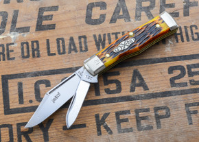 Great Eastern Cutlery: #22 - Northfield Un-X-LD - Magnum - Antique Yellow Jig Bone - Serialized