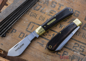 Great Eastern Cutlery: #74 - Tidioute - Cotton Sampler - Ebony - Unserialized
