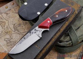 Carter Cutlery: Clip Point Original - Hammer Finish - Premium Ironwood / Red Micarta