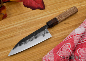 Carter Cutlery: Custom 5.2 Sun Kuro-uchi Wa-bocho - Oregon Maple / Ironwood