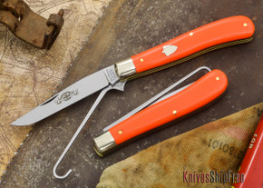 Great Eastern Cutlery: #48 - Woodcock Bird Hunters - Carbon Steel - Orange Delrin