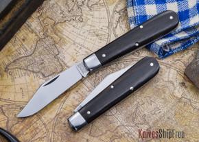 Great Eastern Cutlery: #15 - Tidioute - Huckleberry Boy's Knife - Ebony - Clip-point