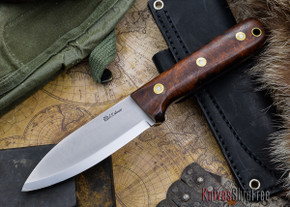 L.T. Wright Knives: Genesis - Desert Ironwood - Scandi Grind - A2 Steel - #59
