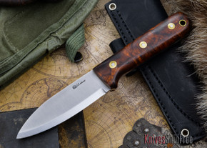 L.T. Wright Knives: Genesis - Desert Ironwood - Scandi Grind - A2 Steel - #60
