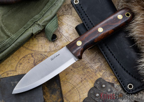 L.T. Wright Knives: Genesis - Desert Ironwood - Scandi Grind - A2 Steel - #61