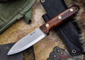 L.T. Wright Knives: Genesis - Desert Ironwood - Scandi Grind - A2 Steel - #62