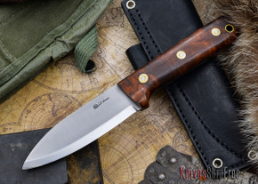 L.T. Wright Knives: Genesis - Desert Ironwood - Scandi Grind - A2 Steel - #63