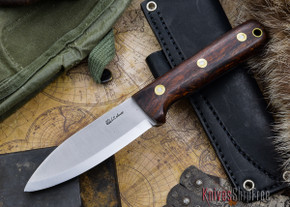 L.T. Wright Knives: Genesis - Desert Ironwood - Scandi Grind - A2 Steel - #64