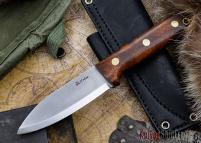 L.T. Wright Knives: Genesis - Desert Ironwood - Scandi Grind - A2 Steel - #65