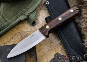 L.T. Wright Knives: Genesis - Desert Ironwood - Scandi Grind - A2 Steel - #66