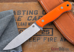 Dan Koster Knives: BushMaster Knife CPM 3V - Orange G-10