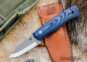 Dan Koster Knives: Woodlore - CPM 3V - Black & Blue G-10