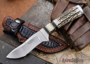 "Alan Warren: 4"" Humpback Hunter - CPM 154 - Black Micarta / Orange G-11"