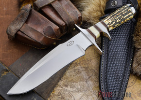 "Alan Warren: 8"" Sub-Hilt Fighter Bowie - CPM 154 - Sambar Stag / Ironwood"