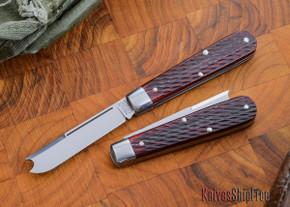 Great Eastern Cutlery: #15 Tidioute - Huckleberry Boy's Knife - Rust Red Jigged Bone