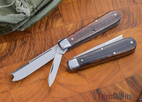 Great Eastern Cutlery: #15 Tidioute - Huckleberry Boy's Knife - Ebony Wood - Two Blade