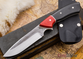 Carter Cutlery: Aviator - Black & Red Micarta - White Liners