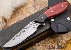 Carter Cutlery: Tombo - Red & Black Micarta - Blue Liners