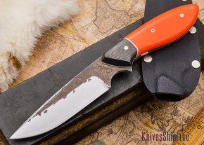 Carter Cutlery: Murray's Perfect Model - Blaze Orange G-10 / Carbon Fiber - White Liners