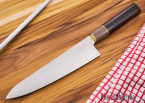 Northwoods Knives: Blackwood XHP - 210 mm (8.25 in) Gyuto - Wa Handle
