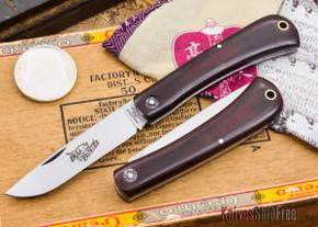 Great Eastern Cutlery: #21 - Farm & Field - Bull Buster - Maroon Linen Micarta