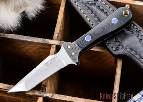Alan Warren: Tanto Neck Knife - Black G-10 - Blue Liners - CPM-154