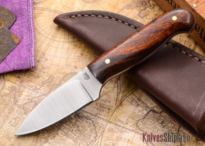 L.T. Wright Knives: Patriot - Desert Ironwood - Flat Ground - D2 Steel - #86