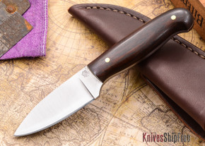 L.T. Wright Knives: Patriot - Desert Ironwood - Flat Ground - D2 Steel - #88