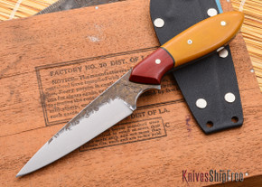 Carter Cutlery: Wharncliffe Pointy - Tan Micarta / Red Micarta